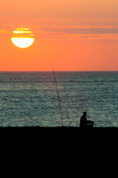 Fishing at Sunset - Mullion Cove