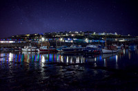 Porthleven harbour lights