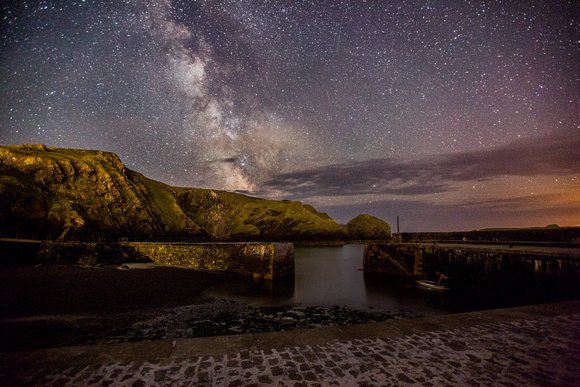 Mullion cove by night, Cornwall by night
